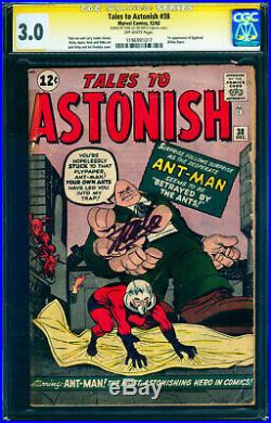 1964 Tales to Astonish #38 CGC 3.0 1st APP of Egghead! Signed Stan Lee