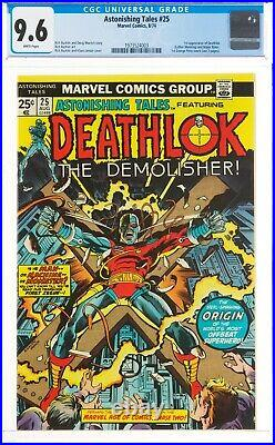 ASTONISHING TALES #25 First Deathlok CGC 9.6 White Pages Centered