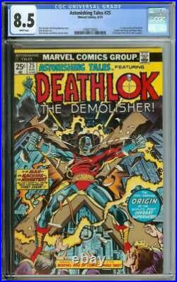 Astonishing Tales #25 Cgc 8.5 White Pages // 1st Appearance Of Deathlok