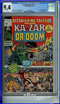 Astonishing Tales #3 Cgc 9.4 White Pages Ka-zar And Doctor Doom App