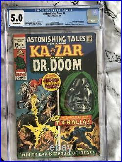 Astonishing Tales #6 CGC 5.0 OW Pgs (6/71) Dr. Doom, Black Panther, MCU Issue