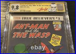 CGC 9.8 SS True Believers Ant-Man & the Wasp 1 Signed Stan Lee Tales to Astonish