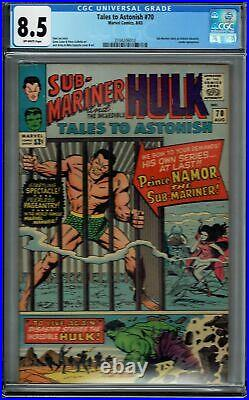 Cgc 8.5 Tales To Astonish #70 Ow Pages 1st Solo Appearance Of The Sub-mariner