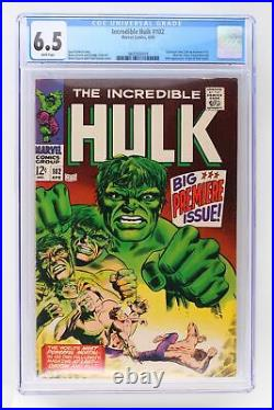 Incredible Hulk #102 Marvel 1968 CGC 6.5 Continued from Tales to Astonish #101