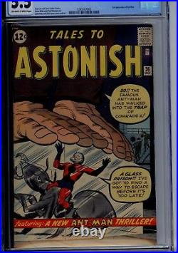 MARVELTales to Astonish #36 3rd ANT MAN CGC GRADED 5.5 OFF WHITE/WHITE PAPER