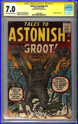 TALES TO ASTONISH #13 CGC SS Larry Lieber First appearance 1st App Groot Rare