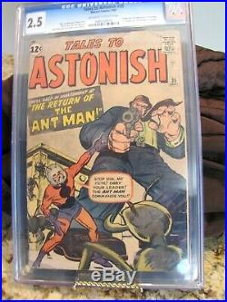 TALES TO ASTONISH 35 CGC 2.5 Ant-Man 2nd Appearance Origin and First Costume