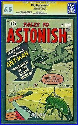 TALES TO ASTONISH 41 CGC 5.5 SS SIGNED BY STAN LEE \ Kirby Ditko 1963 Avengers