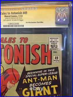 TALES TO ASTONISH #49 CGC 7.5 STAN LEE SIG 1st App GIANT-MAN AVENGERS