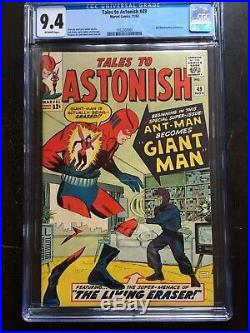 TALES TO ASTONISH #49 CGC NM 9.4 OW 1st app. Giant Man! Key issue