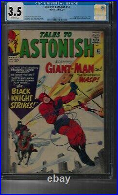TALES TO ASTONISH #52 CGC 9.2 BLACK KNIGHT 1ST APPEARANCE ETERNALS movie