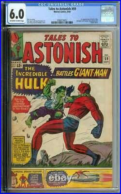 TALES TO ASTONISH #59 CGC 6.0 OWithWH PAGES // 1ST HULK IN TITLE + CLASSIC COVER