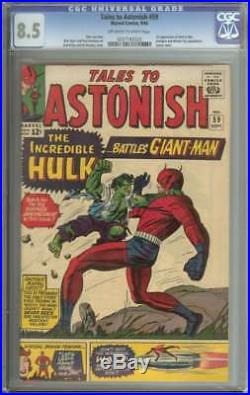 TALES TO ASTONISH #59 CGC 8.5 OWithWH PAGES