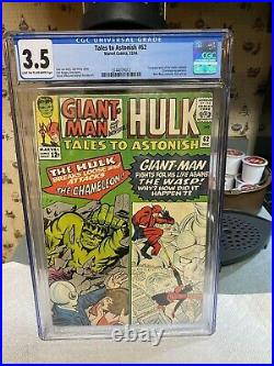TALES TO ASTONISH #62 CGC 3.5 1st APP of the LEADER-Enter. The CHAMELEON