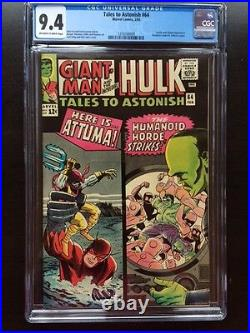 TALES TO ASTONISH #64 CGC NM 9.4 OW-W Kirby cover Ditko art