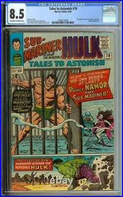 TALES TO ASTONISH #70 CGC 8.5 OWithWH PAGES // SUB-MARINER BECOMES FEATU ID 31807