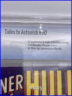 TALES TO ASTONISH #90 9.0 OwithWHITE 1ST ABOMINATION BYRRAH Cbcs Old Label 9.4cgc