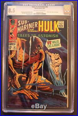 TALES TO ASTONISH 92 1st cameo SILVER SURFER crossover 1967 STAN LEE CGC VF+ 8.5