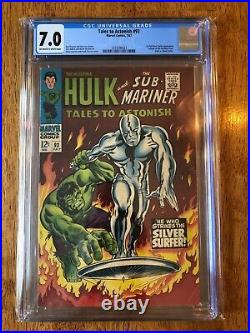TALES TO ASTONISH #93 (1967) CGC 7.0 OWithW. HULK! 1ST SILVER SURFER OUTSIDE FF