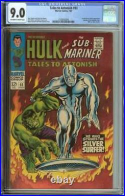 TALES TO ASTONISH #93 CGC 9.0 OWithWH PAGES // 1ST FULL SURFER APP OUTSIDE FF 1967