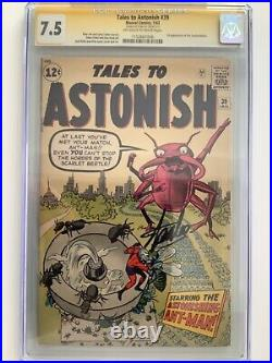 TALES to ASTONISH #39 SIGNED STAN LEE CGC 7.5 KIRBY1963 ANT MAN