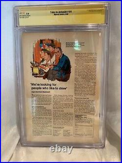 Tales To Astonish #101 Signed Stan Lee Cgc 7.0 Incredible Hulk 3/68 Last Issue