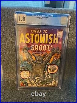 Tales To Astonish #13 CGC 1.8. FIRST APP GROOT