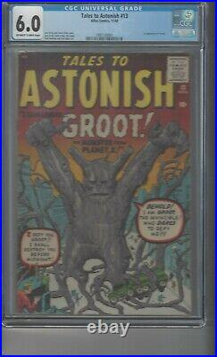 Tales To Astonish #13 CGC 6.0 OWithWhite Pages 1st Appearance of Groot