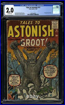 Tales To Astonish #13 CGC GD 2.0 Off White 1st Groot Guardians of the Galaxy