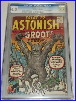 Tales To Astonish #13 Cgc 4.0 Off White / White Pages Groot Pen On Back Cvr (sa)