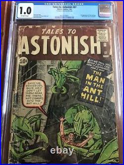 Tales To Astonish 27 CGC 1.0 OW Kirby Ditko Lee First Ant Man SWEET