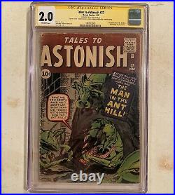Tales To Astonish 27 CGC 2.0 SS Signed Stan Lee First Appearance of Ant-Man Pym