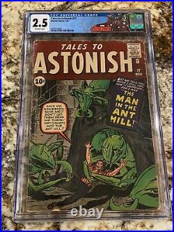 Tales To Astonish #27 Cgc 2.5 Ow Pages 1st Ant Man Henry Pym Avengers Mcu Hot