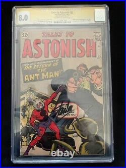 Tales To Astonish #35 1st Ant-man costume Signed Stan Lee CGC 8.0 1120547003
