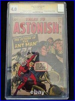 Tales To Astonish #35 1st App of Ant Man costume Stan Lee CGC SS 4.0 1151321007