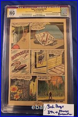 Tales To Astonish #35 3 or 5thPg CGC Signed STAN LEE 1st costume ORIGIN Ant-Man