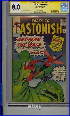 Tales To Astonish #44 Cgc 8.0 Ss Signed Stan Lee 1st Appearance Wasp