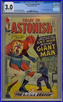 Tales To Astonish #49 Cgc 3.0 Ant-man Becomes Giant Man