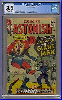 Tales To Astonish #49 Cgc 3.5 Ant-man Becomes Giant-man