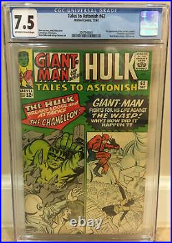 Tales To Astonish #62 Cgc 7.5 1st Cameo Appearance Of The Leader New Wasp Outfit