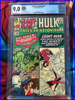 Tales To Astonish 62 Cgc Vf/nm 9.0 1st Appearance Of The Leader (1964)