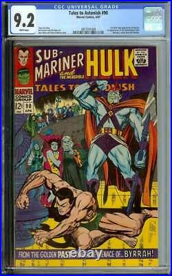 Tales To Astonish #90 Cgc 9.2 White Pages // 1st App Abomination Marvel 1967
