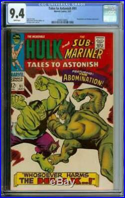 Tales To Astonish #91 Cgc 9.4 White Pages