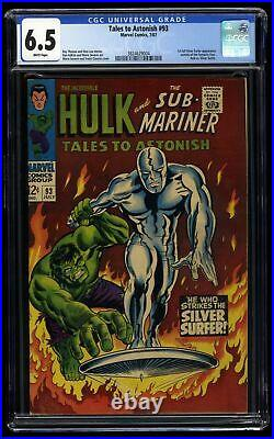 Tales To Astonish #93 CGC FN+ 6.5 White Pages Silver Surfer