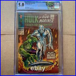 Tales To Astonish #93, Cgc 5.0, C-ow, 1967, 1st Silver Surfer App, Ouside Of Ff