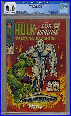 Tales To Astonish #93 Cgc 8.0 1st Silver Surfer Outside Fantastic Four