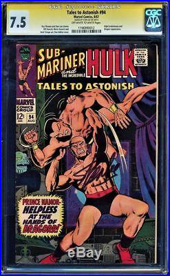 Tales To Astonish #94 Cgc 7.5 Oww Ss Stan Lee Signed Sig Series Cgc #1196990012