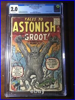 Tales to Astonish #13 (1960) 1st Groot! CGC 2.0 Key! White Pages