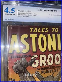Tales to Astonish #13 CBCS 4.5 not CGC 1960 1st Groot! GOTG! OW-W Bright Color