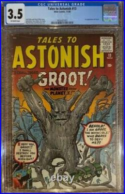 Tales to Astonish #13 CGC 3.5 First Appearance of Groot